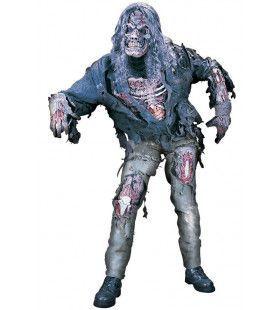 Opengewerkte Afschuwelijke Zombie Man Kostuum