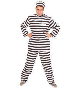 Gevangenis Zwart-Wit Boevenpak Gabardine Man Kostuum