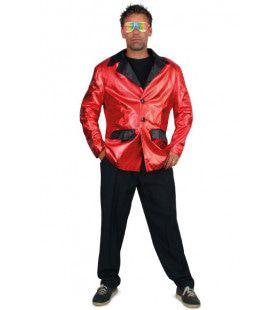 Disco Fever Smoking 2delig Rood Man Kostuum