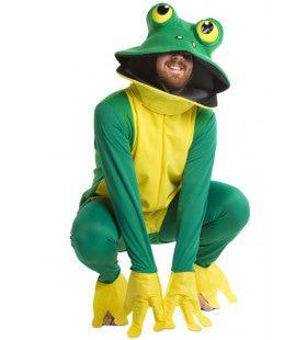 Kikker Deluxe Groen-Geel Kostuum