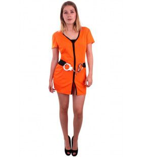 Orange County Gevangene Vrouw Kostuum