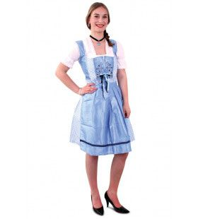 Tiroler Boerenmeid Licht Blauw Vrouw Kostuum