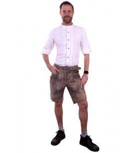 Wit Funky Tiroler Hemd Man