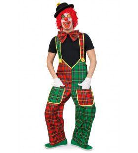 Ruitjes Clown Limbo Man Kostuum