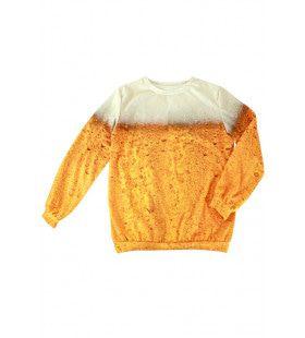 Goud Gele Rakker Bier Fleece Trui