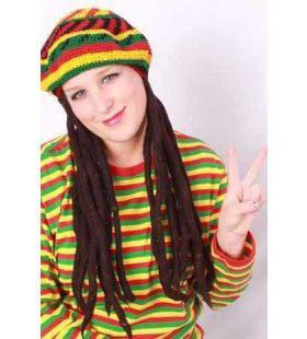 Reggae Bob Baret Met Rasta Haar