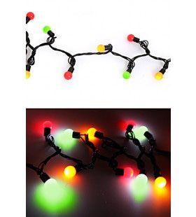 Verlichtingssnoer 50 Lampjes Rood Geel Groen
