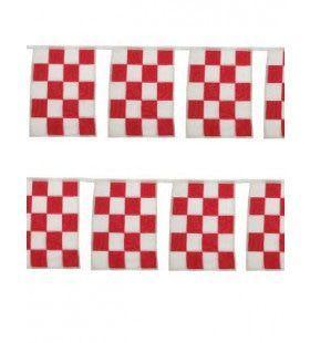 Vlaggenlijn Rood Wit De Luxe Brabant 10 Meter