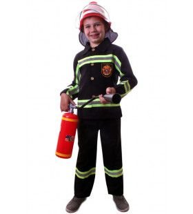 Brandweer Spuitgast Dikke Fik Jongen Kostuum