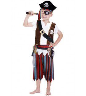Verkleedset Piraat 11 Delig Jongen Kostuum