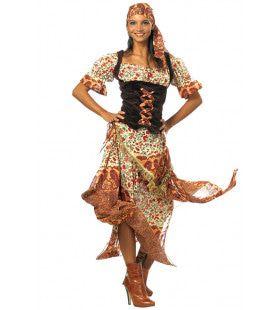 Wapperende Rokken Zigeunerin Vrouw Kostuum