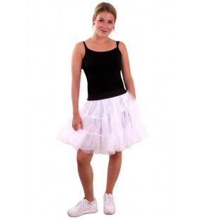 Rock And Roll Petticoat 3 Lagen Wit Vrouw