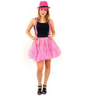 Rock And Roll Petticoat 3 Lagen Roze Vrouw