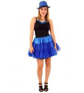 Rock And Roll Petticoat 3 Lagen Blauw Vrouw
