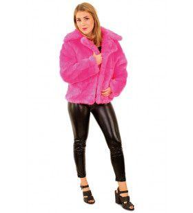 Bontjas Aso Schreeuwend Roze Vrouw