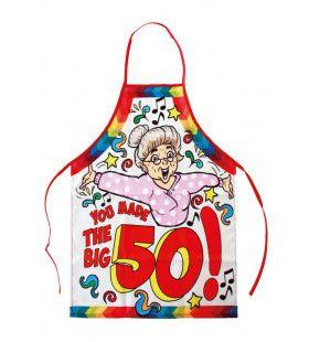 Keukenschort Sarah You Made The Big 50 Vrouw