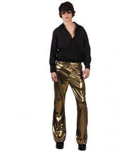 Glimmend Gouden Discobroek Johnny Man