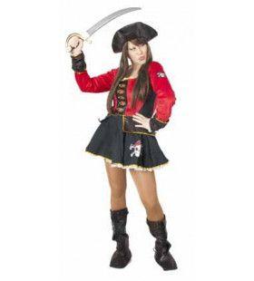 Piraat Kampioen Schedel Klieven Vrouw Kostuum