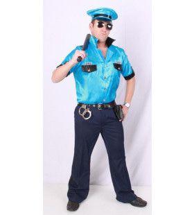 Politie Macho Showbal Uniform Man Kostuum