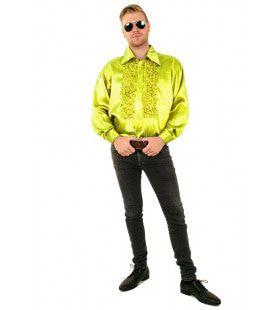 Ruchesblouse Baas Van De Dansvloer Limoen Man