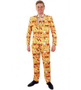 Vette Hap Snackbar Patat Man Kostuum