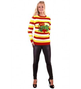 Sweater Oeteldonk Carnaval Smalle Strepen