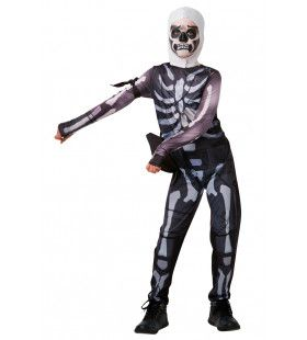 Fortnite Skull Trooper Computer Spel Game Jongen Kostuum