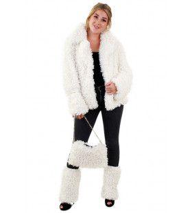 Witte Bontjas Lammy Siberische Toendra Vrouw