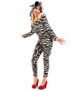 Dartel Dravende Zebra Afrika Vrouw Kostuum