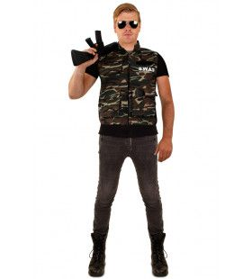 Camouflage Vest Swat Team Man