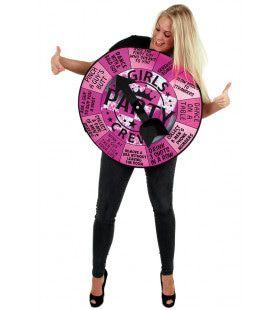 Rad Vol Uitdaging Vrijgezellenfeest Vrouw Kostuum