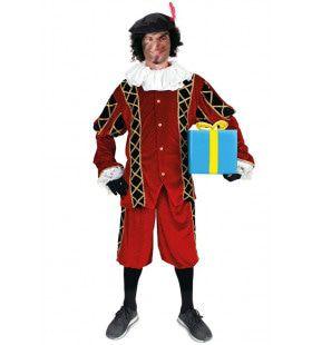 Assistent Van Sinterklaas Piet Rood Zwart Kostuum