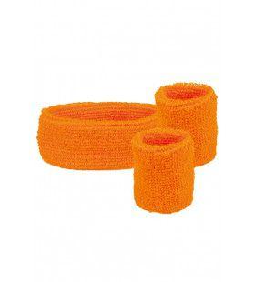 Zweetbandjes Set Oranje 3-Dlg
