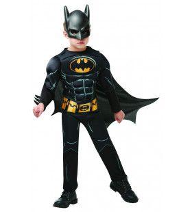 Batman Gespierde Borst Superheld Jongen Kostuum