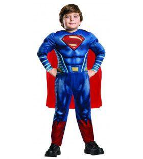 Breder Dan Je Vader Superman Spieren Jongen Kostuum