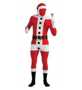Second Skin Santa Claus Kerstman Morphsuit Met Muts En Riem Kostuum