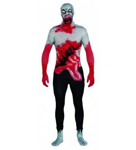 Second Skin Zombie Morphsuit Halloween Man Kostuum
