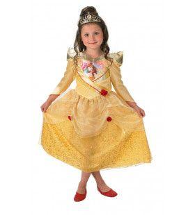 Goud Glinsterend Belle Sprookjes Meisje Kostuum