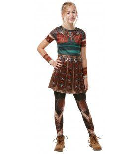 Dappere Drakentemster Astrid Meisje Kostuum