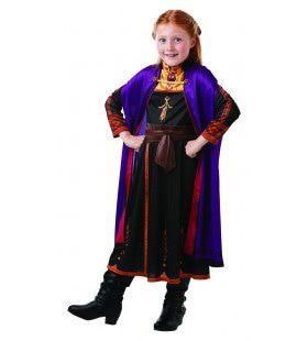 Heldhaftige En Voor Niets Bange Anna Frozen Meisje Kostuum