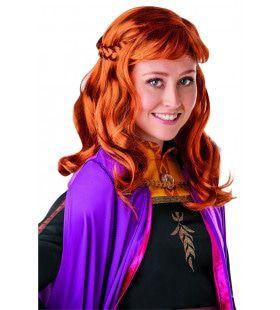 Pruik Anna Wig Frozen 2 Rood