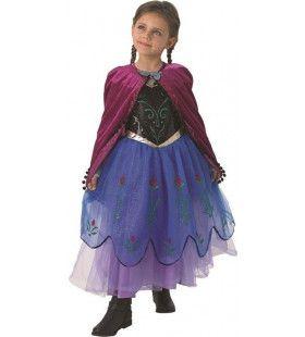 Premium Anna Van Arendelle Spelend In De Sneeuw Meisje Kostuum