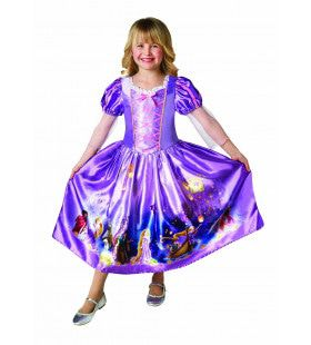 Paarse Rapunzel Is Klaar Met Vlechten Meisje Kostuum