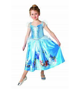Niet As Poetsende Prinses Assepoester Blauw Meisje Kostuum