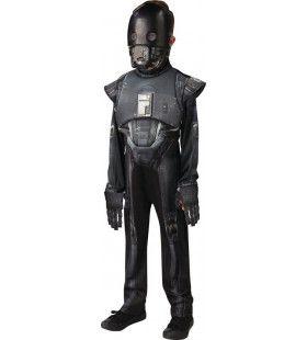 Zwarte Robot Star Wars K-2so Droid Deluxe Kind Jongen Kostuum