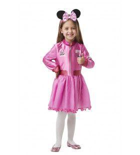Minnie Mouse Roze Roadrace Meisje Kostuum