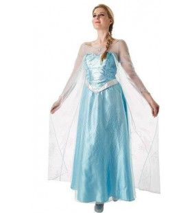 Frozen Elsa Laat Het Gaan Vrouw Kostuum