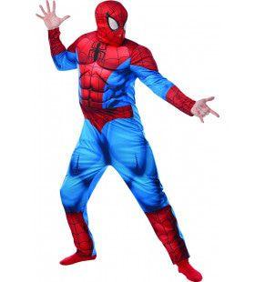 Zwaar Gespierde Spiderman Deluxe Kostuum