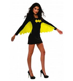 Aantrekkelijke Geel Zwart Gevleugelde Superheldin Batgirl Vrouw Kostuum