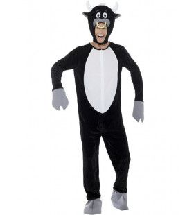 Stoere Stier Met Neusring Man Kostuum